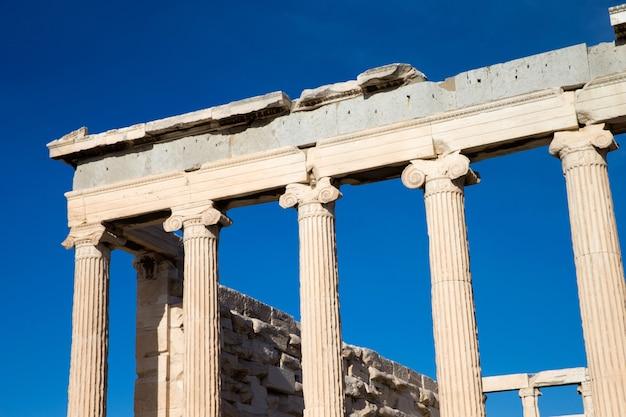 Partenón en la acrópolis de atenas, grecia