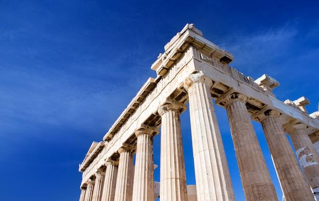 Partenón en la acrópolis en atenas, grecia