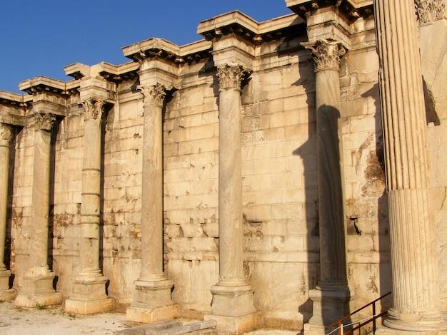 Partenón de la acrópolis en atenas, grecia