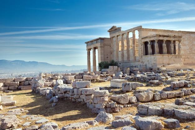 Partenón en la acrópolis de atenas