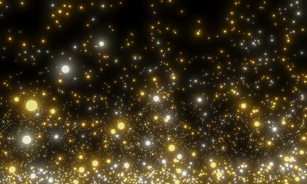 Partículas doradas brillantes abstractas