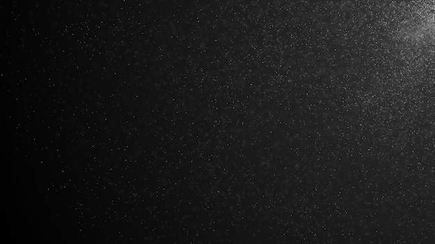 Partículas de polvo orgánico natural flotando sobre un fondo negro