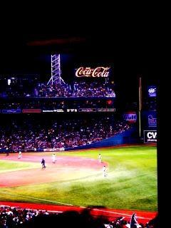 Partido de béisbol fenway park, boston, redsox