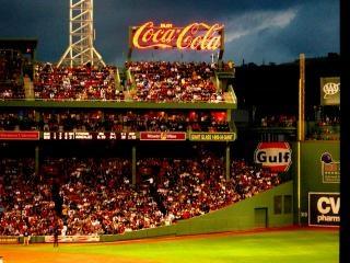 Partido de béisbol fenway park, boston