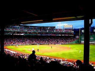 Partido de béisbol fenway park, famoso