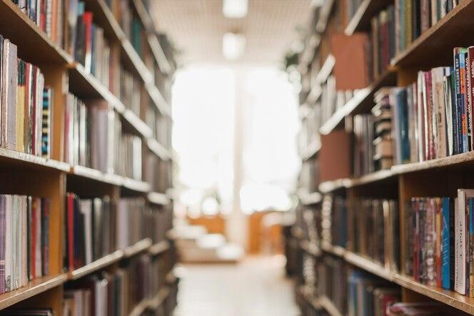 Pasaje entre librerías de la biblioteca