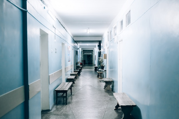 Pasillo del hospital vacío