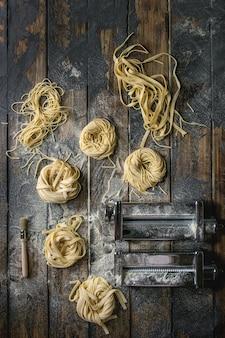 Pasta casera sin cocer