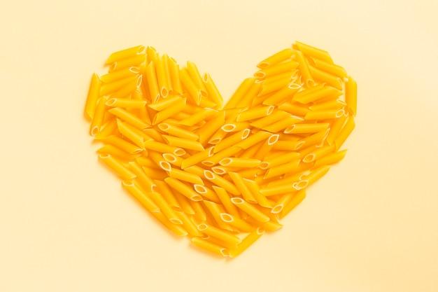 Pasta en forma de corazón