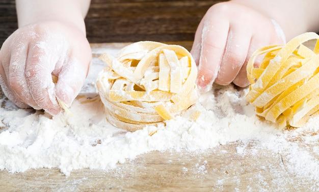 Pasta hecha de trigo duro