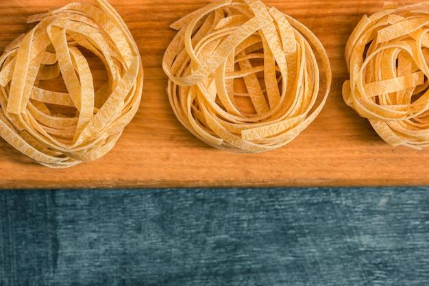 La pasta italiana seca