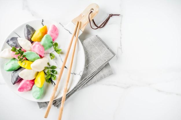 Pastel de arroz coreano songpyeon