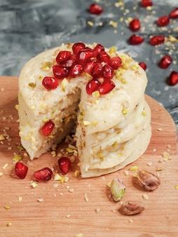 Pastel de capas de panqueques marroquíes - pastel baghrir.