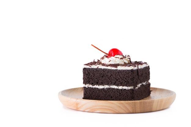 Pastel de cereza y chocolate
