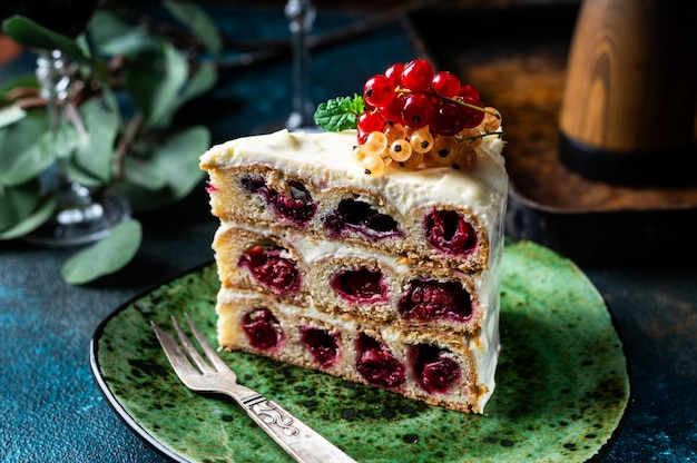Pastel de cereza pastel ruso