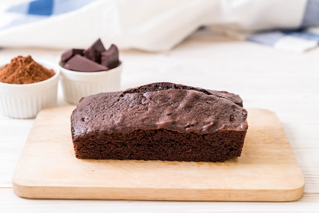 Pastel de chocolate brownie