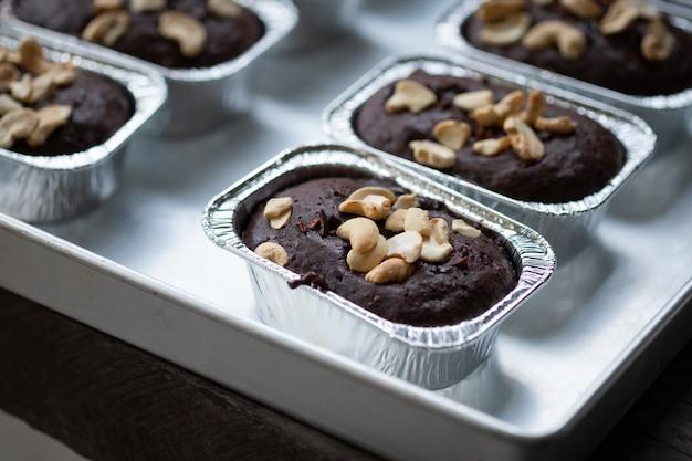 Pastel de chocolate brownies