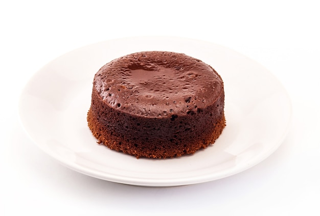 Pastel de fondant de chocolate, pudín de chocolate caliente