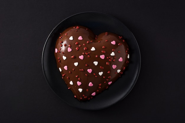 Pastel en forma de corazón para el día de san valentín