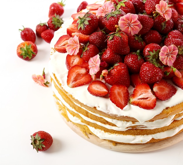 Pastel de fresa