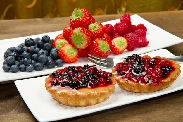 Pastel con frutillas