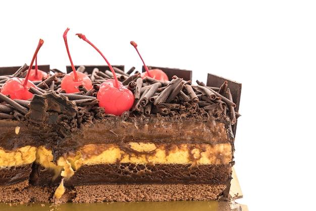 Pastel de helado de chocolate