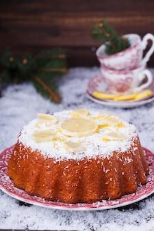 Pastel de limon navideño