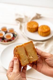 Pastel de luna chino para festival chino de mediados de otoño