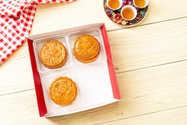 Pastel de luna chino para el festival chino de medio otoño