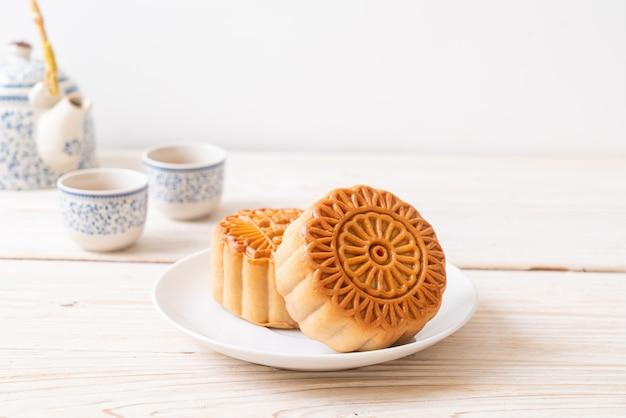 Pastel de luna chino para el festival del medio otoño