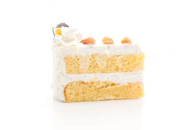 Pastel de macadamia aislado