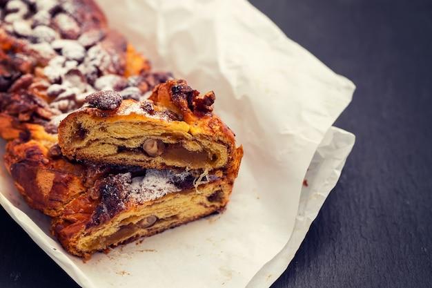 Pastel de navidad portugués tradicional bolo de rainha