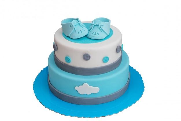 Pastel para el niño recién nacido.