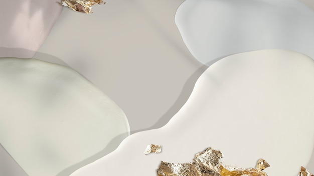 Pastel opaco con fondo dorado brillo
