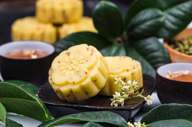 Pastel de osmanthus gourmet tradicional