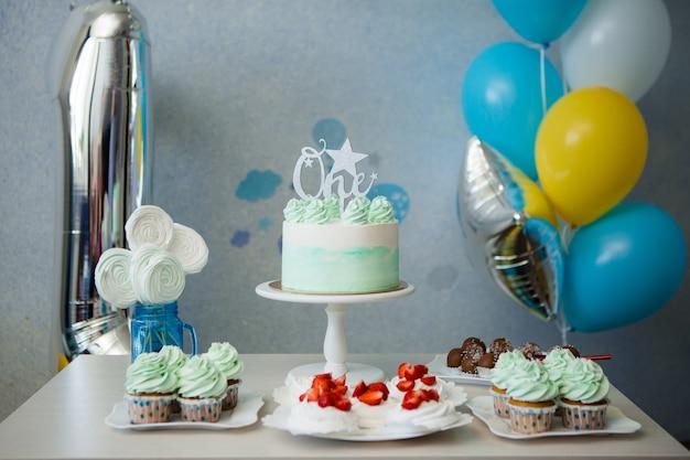 Pastel para el primer cumpleaños