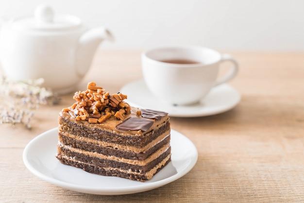 Pastel de toffee de cafe