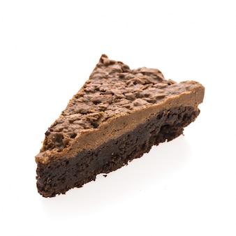 Pasteles brownie de chocolate aisladas