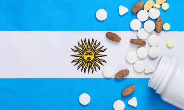 Pastillas con la bandera de argentina.