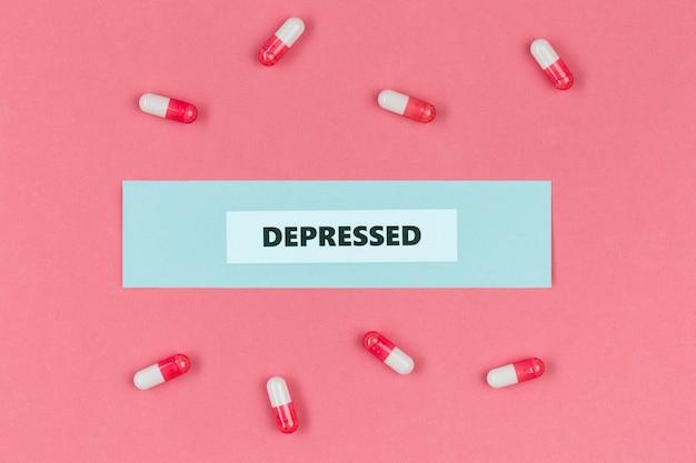 Pastillas para la depresión.