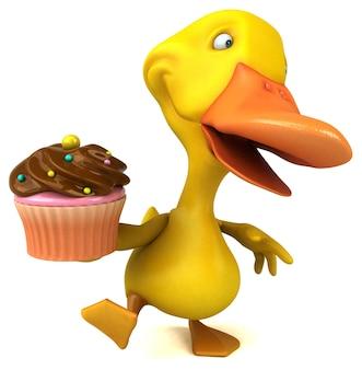 Pato divertido - ilustración 3d