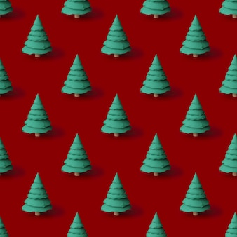 Patrón de árboles de navidad concepto de año nuevo ilustración 3d
