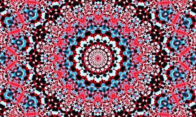 Patrón de caleidoscopio transparente creativo abstracto con triángulos de trazo de pincel. fondo colorido para imprimir folletos, carteles, tarjetas, impresos, textiles, revistas, ropa deportiva. diseño moderno de moda.