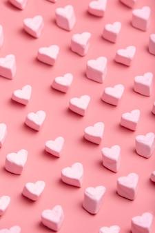 Patrón de caramelo en forma de corazón