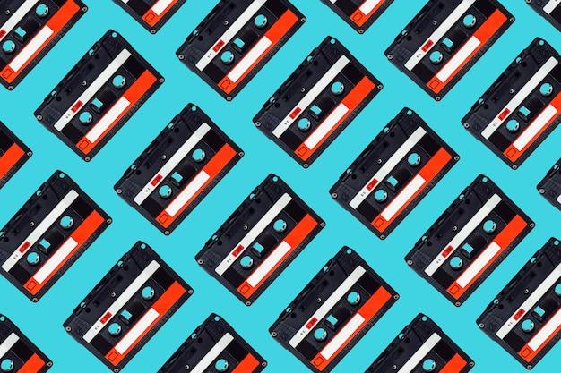 Patrón de cinta de cassette de audio.