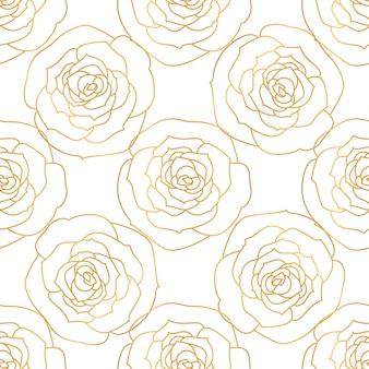 Un patrón sin costuras con flores rosas