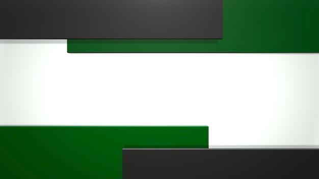 Patrón de cuadrados negros ana verde, fondo abstracto. estilo geométrico dinámico elegante y lujoso para negocios, ilustración 3d