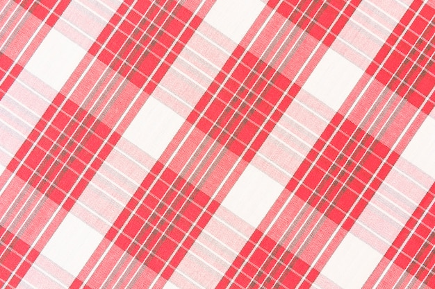 Patrón de cuadros rojos sin costura