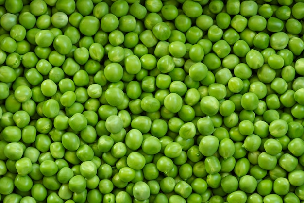 Patrón de cultivo de guisantes verdes frescos