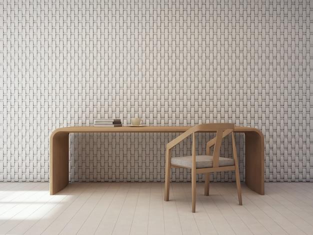 Patrón de decoración de pared en interior blanco moderno.